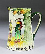 A Royal Doulton Series ware pottery jug -
