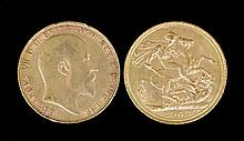 Two Edward VII Sovereigns 1902 and 1910 (Fine/Fair)