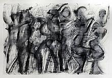 Kassandra Isaacson (20th / 21st Century) - Five works - Conte and charcoal -