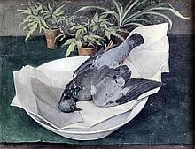 Gordon Lionel Davies (1927-2007) - Oil painting - Still life with pigeon