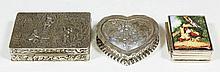 A Continental silver rectangular snuff box
