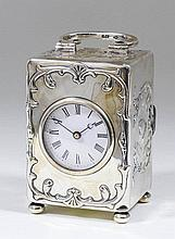 A late Victorian silver cased travelling timepiece