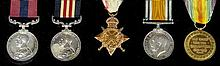 A group of five George V First World War medals to