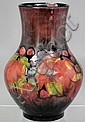 A Moorcroft pottery bulbous vase decorated with