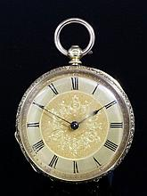 A late 19th Century Swiss lady's 18k gold cased