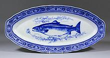 A Royal Doulton pottery blue and white fish