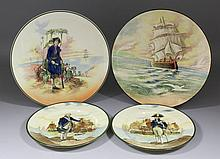 Two Royal Doulton pottery plates -