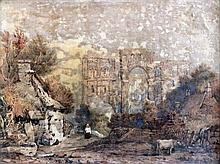 Samuel Prout (1782-1852) - Watercolour - Ruins of