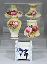 Five pieces of Royal Worcester bone china,
