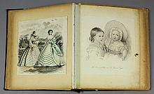 A late 19th Century scrap album containing a