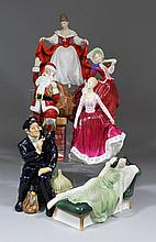 Six Royal Doulton bone china figures, comprising -
