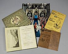 An interesting collection of ephemera, including -