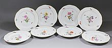 A set of eight 19th Century Berlin (KPM) porcelain