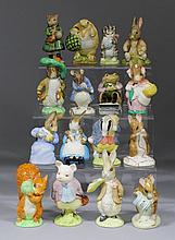 A collection of Royal Albert and Beswick pottery