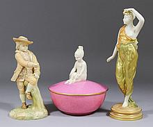 A Royal Worcester Parian model - Lady with mask,