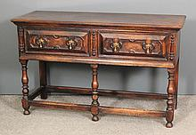 An oak sideboard of