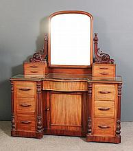 A Victorian mahogany dressing table with
