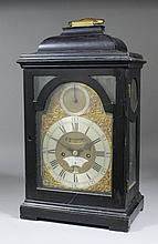 A mid 18th Century ebonised table clock by James