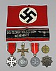 A small collection of World War Two German medals