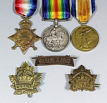 A group of three George V First World War medals