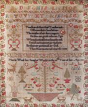 An early 19th Century needlework sampler by Maria