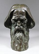 Barney Seale (1896-1957) - Bronze bust - Bearded