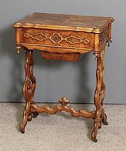A 19th Century French figured walnut rectangular