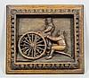 Of World War I interest - Oak panel carved with