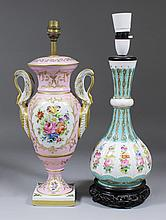 A Continental porcelain two-handled urn pattern