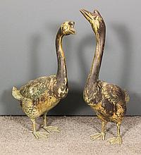 20th Century School - Pair of bronze patinated