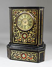A 19th Century French ebonised and Boulle cased