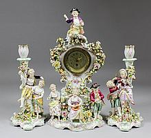 A late 19th Century Sitzendorf porcelain cased