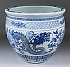 A Chinese blue and white porcelain jardiniere