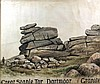 Frank Rutley - A watercolour of Great Staple Tor,