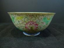 ANTIQUE CHINESE IMPERIAL FAMILLE ROSE PORCELAIN BOWL GUANGXU MARK & PERIOD