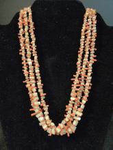 NATURAL CHINESE RED CORAL NECKLACE