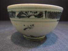 ANTIQUE CHINESE BLUE WHITE PORCELAIN BOWL MING DYNASTY