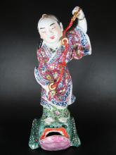 Antique Chinese Famille Rose Porcelain Figure of an Imm