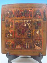 Antique Russian Icon, 18th/19th C. ith Resurrection and