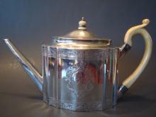 Antique Silver Sterling London Cornelius Bland Teapot,