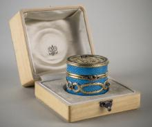 Russian Silver, Enamel and Jewelled Box
