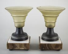 Pair of Art Deco Glass Vases
