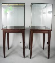 Pair of Vitrines on Stands