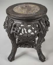 Asian Marble Top Low Table