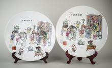 Pair of Chinese Porcelain Chargers