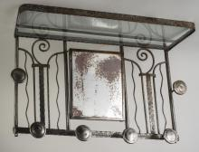 Art Deco Wrought Iron Coat Rack