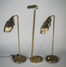 Three Brass Floor Lamps