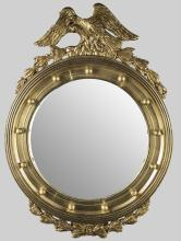 Federal Style Gilt Wood Convex Mirror