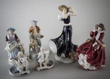 Six Porcelain Figures
