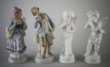 Two Pair of Porcelain Figures